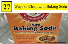 27 Simple Ways To Clean With Baking Soda...For more creative tips and ideas FOLLOW https://www.facebook.com/homeandlifetips