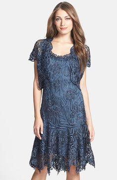 Soulmates Beaded Crochet Silk Dress & Bolero available at #Nordstrom