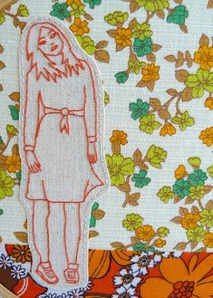 watch 8c509 c79a8 girl embroidery retro 3 by edwardandlilly, via Flickr Modern Embroidery,  Vintage Embroidery, Embroidery