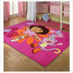 Dora the Explorer - Butterflies Kids Rug EasyBuy Dora And Friends, Childrens Rugs, Butterfly Kids, Bedding Sets Online, Dora The Explorer, Machine Made Rugs, Big Girl Rooms, Christmas Toys, Kid Beds