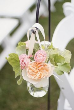 Aisle flowers on hook
