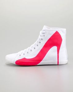 Big City Pump Silhouette Sneaker, Pink   This is much more practical than the high heeled sneaker!
