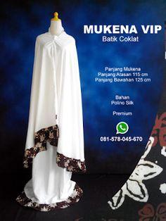 Mukena Vip Batik Coklat - Grosir Pesan Mukena katun jepang santung bordir batik bali murah anak