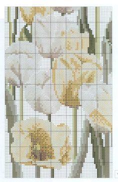 Cuscino tulipani bianchi 3/5