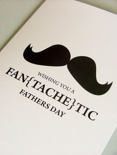 Fan TASCHEtic fathers day card by Doodle love on etsy.com £2.50