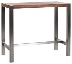 Moe's Home Collection 47 by 23 by 41-Inch Riva Bar Table, Walnut Veneer