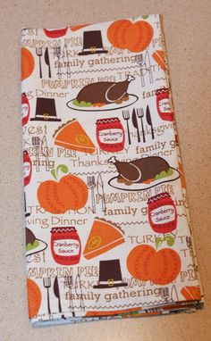 Thanksgiving Napkins  4 pack by MommysGoingToSnap on Etsy, $14.00