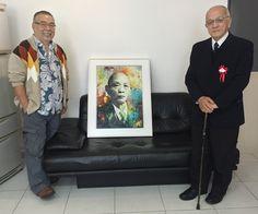 "Entrega do Quadro ""Ryu Mizuno Portrait"" e o reencontro com o amigo Ryusaburo Mizuno (filho de Ryu Mizuno)"