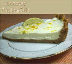 ΣΥΝΤΑΓΕΣ ΤΗΣ ΚΑΡΔΙΑΣ: Λεμονο-γιαουρτόπιτα Easy Desserts, Sweet Tooth, Cheesecake, Pudding, Blog, Drink, Recipes, Beverage, Cheesecakes