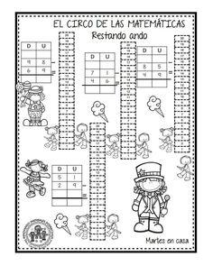 EXCELENTE CUADERNO PARA TRABAJAR UNA SEMANA EL CIRCO DE LAS MATEMÁTICAS - Imagenes Educativas Preschool Education, Crossword, Worksheets, Math, School Stuff, Early Education, Activities, Math Notebooks, First Grade Math