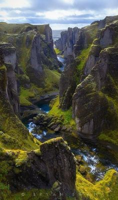 Fjaðrárgljúfur, The Most Beautiful Canyon in the World is part of Iceland photography - Have you eve seen a canyon so beautiful Fjaðrárgljúfur is a canyon in south east Iceland that's known for its breathtaking beauty It's up to 330 feet Places Around The World, Oh The Places You'll Go, Places To Travel, Places To Visit, Around The Worlds, Travel Destinations, Vacation Travel, Travel Deals, Travel Hacks