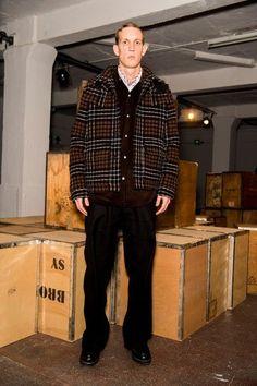Men's layered sweater look
