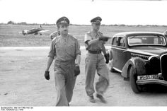 [Photo] German Luftwaffe Major General Adolf Galland on an inspection in southern Italy, note Bf 109 fighter in background Adolf Galland, Luftwaffe, Army History, Major General, Fighter Pilot, Southern Italy, Modern History, World War Two, Wwii