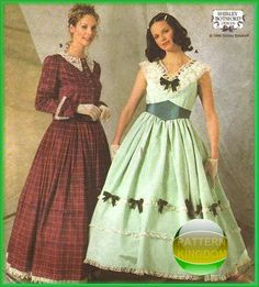 Simplicity 7312 Southern Belle Gone with the Wind Dress Patterns
