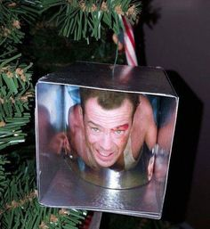 One creative Redditor decided their Christmas was not complete until they  had an ornament for their favorite Christmas movie, Die Hard. Seeing as the  market doesn't have much in the way of merchandise for the film this time  of season, StuFx took it into their own hands to make an ornament that  shows John McClane making his way through an air vent!  I'm super jealous and want this on my Christmas tree next year! Anyone else  have homemade Christmas ornaments they'd like to shar...