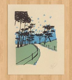Walk In The Park Art Print by Hilary Williams on Scoutmob Shoppe