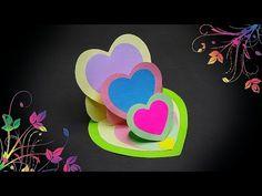 DIY - TRIPLE HEART EASEL CARD - TUTORIAL / DIY CARDS - YouTube