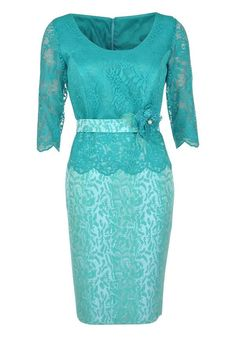 Nati Jiminez - Occasion Wear Lace Bodice Dress Jade Green - www.mcelhinneys.com