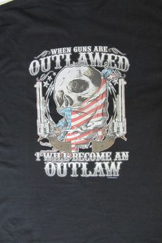 Outlaw Skull 2nd Amendment T-shirt