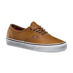 The Leather Authentic, the original and now iconic Vans style, features a simple low top, lace-up profile with premium leather uppers, printed interiors, metal eyelets, and signature waffle rubber outsoles.