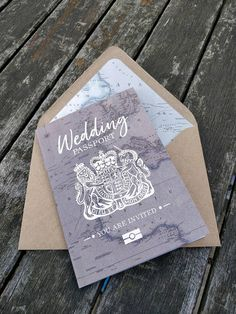 Wedding Passport Travel wedding invitation Vintage map