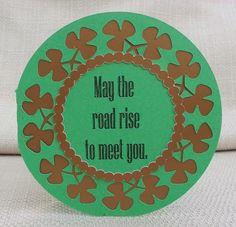 St. Patrick's Day--DT SVG--Shamrock Cards
