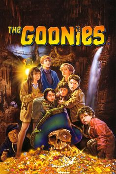 The Goonies movie poster - #poster, #bestposter, #fullhd, #fullmovie, #hdvix, #movie720pA young teenager named Mikey Walsh finds an old treasure map in his father's attic. Hoping to save their homes from demolition, Mikey and his friends Data Wang, Chunk Cohen, and Mouth Devereaux run off on a big quest to find the secret stash of Pirate One-Eyed Willie.
