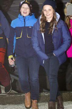 Maud Behn et Princesse Ingrid Alexandra, 11 mars 2017, Fête au musée du ski (Oslo)