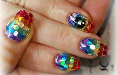 Diseños de uñas con Gel, diseño de uñas de gel.   #uñas #3dnailart #uñasconbrillos