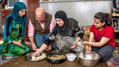 Andrew gets a lesson in hand-rolling traditional Kurdish meat-stuffed dumplings.