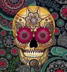 Resultado de imagem para caveira mexicana colorida