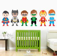 Vinilo infantil Kit héroes de pie