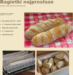 bagietki bardzo proste Bread, Food, Polish Cuisine, Brot, Essen, Baking, Meals, Breads, Buns