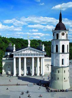 Vilnius is de mooie historische hoofdstad van Litouwen. (1995)