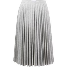 J.W. Anderson Pleated Skirt ($325) ❤ liked on Polyvore featuring skirts, bottoms, light grey, knee length skirts, knee length pleated skirt, cotton pleated skirt, cotton skirt and j.w. anderson
