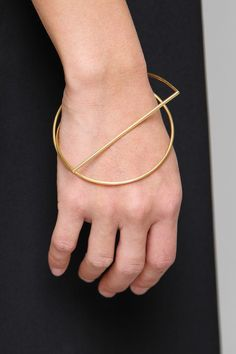 Circle, graphic gold bracelet | Jewellery | The Lifestyle Edit