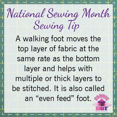 Juki calls theirs a Walking Foot, Janome and Elna call it an Even Feed foot. Have you used one?