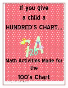 This Freebie includes a Hundred's Chart that can be copied for lots of different games. I've included 3 activities that you can use the hundreds ch...