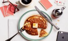 Diner-Style Buttermilk Pancakes are extra fluffy thanks to a shot of seltzer. Their large size is classic for diners, but you can make smaller, easier-to-flip pancakes by scooping of batter onto your griddle. What's For Breakfast, Breakfast Pancakes, Pancakes And Waffles, Breakfast Dishes, Breakfast Recipes, Cooking Pancakes, Breakfast Items, Pancake Healthy, Best Pancake Recipe