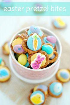 Easter Pretzel Bites | www.somethingswanky.com