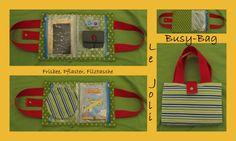 Busy-Bag mit Frisbee, Pflaster/Globuli-Täschchen, Pflaster