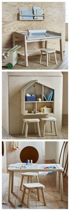 Clean lines and Scandinavian vibes - Ikea Children's furniture - perfect for a playroom