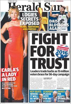 #20160507 #AUSTRALIA #AustraliaTodayNEWSpapers20160507 Saturday MAY 07 2016 http://en.kiosko.net/au/2016-05-07/ <+> #MELBOURNE #HeraldSunAUSTRALIA20160507 http://en.kiosko.net/au/2016-05-07/np/herald_sun.html