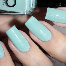 PB Cosmetics - Vert d'eau [Swatch] #blue #babyblue #nailart #nails #mani #polish - For more nail looks or to share yours, go to bellashoot.com