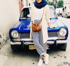 Street Hijab Fashion, Muslim Fashion, Ootd Fashion, Korean Fashion, Fashion Outfits, Fasion, Casual Hijab Outfit, Ootd Hijab, Modern Hijab