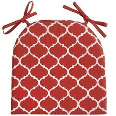 Cabana Geometric Dining Cushion - Terracotta