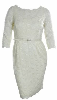 Sequin Floral Lace Cocktail Dress with Belt (8, Ivory) Alex Evenings,http://www.amazon.com/dp/B00DQC9RUI/ref=cm_sw_r_pi_dp_5Bsntb0Y3P9SHWQK