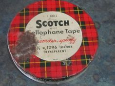 Scotch Tape Tin Tartan Plaid With Tape Inside by LeftoverStuff, $5.00