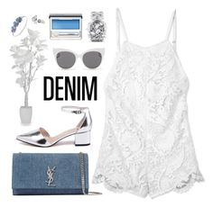 """""""Senza titolo #644"""" by elly3 ❤ liked on Polyvore featuring Yves Saint Laurent, Stone_Cold_Fox, Blanc & Eclare, Anne Klein, Victoria's Secret, Clinique, Guide London, denim and DenimStyle"""