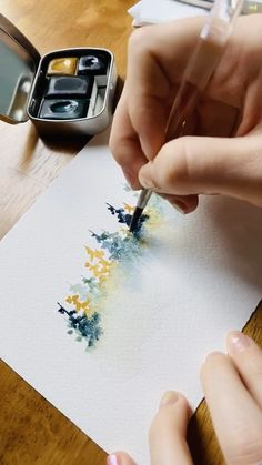 Learn all my tips and tricks for painting watercolor misty forests in me Skillshare class — and get 2 months of Skillshare Premium for free! tips landscape Watercolor misty forests ⛰ Watercolor Art Lessons, Watercolor Paintings For Beginners, Watercolor Video, Watercolor Trees, Watercolour Tutorials, Watercolor Techniques, Watercolor And Ink, Watercolor Illustration, Watercolor Landscape Tutorial